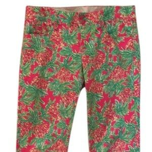 Lilly Pulitzer pineapple worth straight jeans