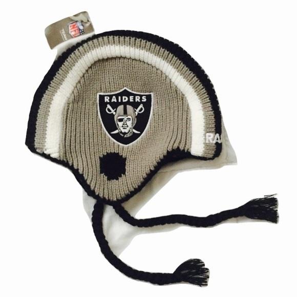 New Kids Oakland Raiders Beanie Hat Helmet