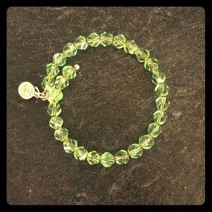 Jewelry - Alex and Annie greeen beaded bracelet