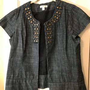 Coldwater Creek denim jacket with studs
