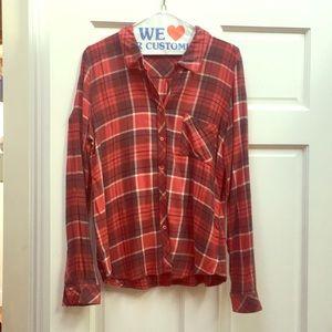 SOFT Joie Flannel button down shirt, sz M