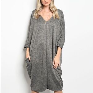 Dresses & Skirts - Dark Gray Oversized Dress| MAKE A OFFER