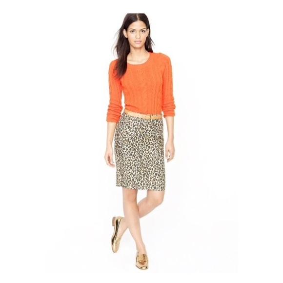 c8ee5f7b18 J. Crew Skirts | Jcrew No2 Linen Pencil Skirt In Leopard Print ...