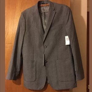 NWT Men's Perry Ellis Grey Sport Jacket 42 R