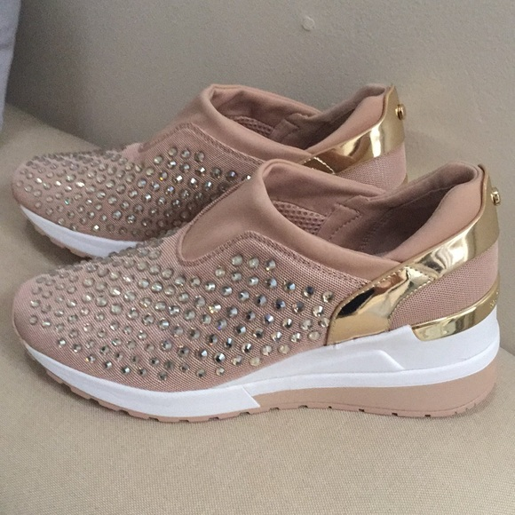 7232a7673424 NIB Michael KORS MALOY TRAINER SNEAKERS PINK GOLD
