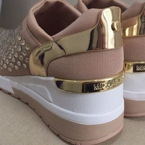 38c2cfed4ea1 Michael Kors Shoes - NIB Michael KORS MALOY TRAINER SNEAKERS PINK GOLD