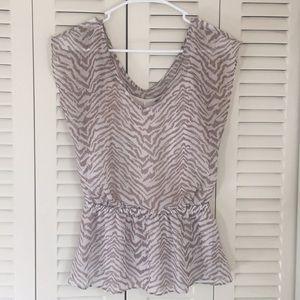 Express animal print blouse