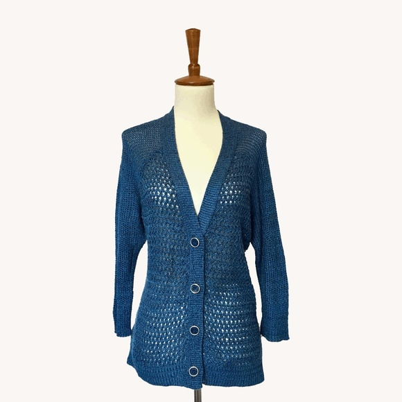 Urban Outfitters Sweaters - Deep Blue Cardigan