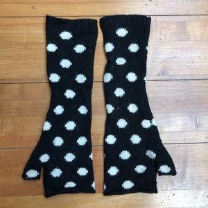 Alice & Olivia Polka Dot Fingerless Gloves