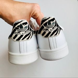 New Rare Adidas Stan Smith Zebra Print B26590 NWT