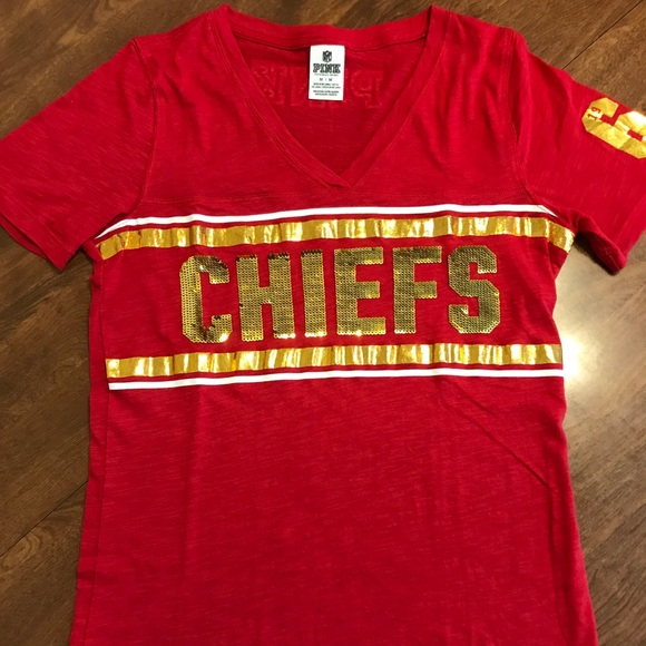 outlet store c334f d1157 PINK Kansas City Chiefs Bling Tee, M