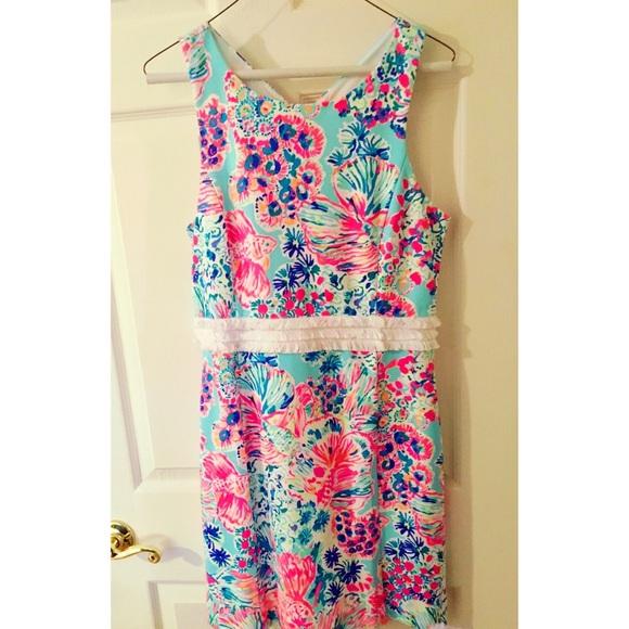 f6cbfb552c2713 Lilly Pulitzer Dresses   Nwt Arden Shift Dress In Serene Blue Gypsea ...