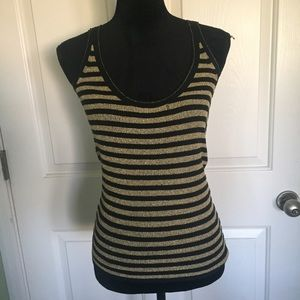 D&G Gold and Black Striped Tank
