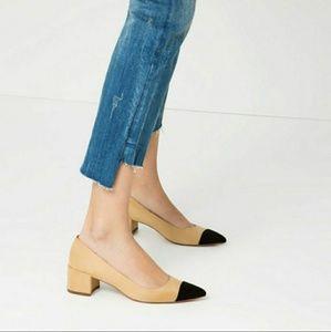 Zara Mid-Heel Shoes Cap Toe