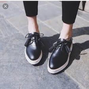 Like New Loeffler Randall Callie platform oxfords