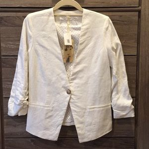 Gibson 100% Linen White Blazer