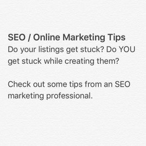 SEO/Marketing Tips to Improve Your Listings!