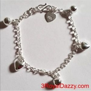 Jewelry - Ball Bell Dangling 925 Charms Baby Girl Bracelet