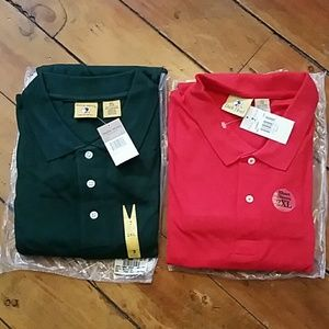 Duck Head S/S Polo Shirts (2) XXL Red & Green NWT