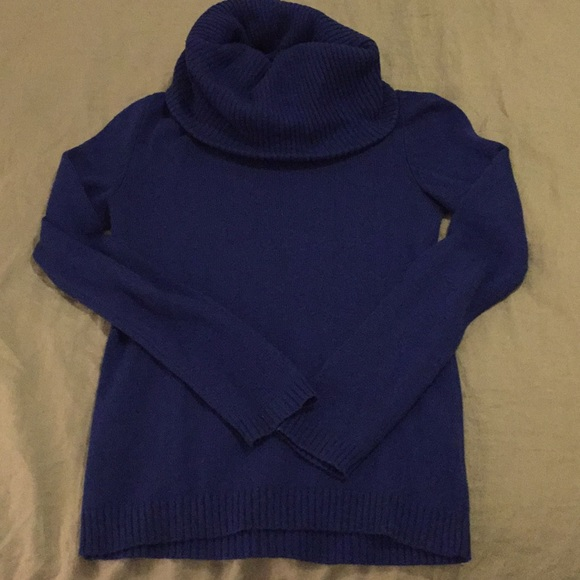 57% off GAP Sweaters - Royal blue Gap cowl neck sweater from Jen's ...