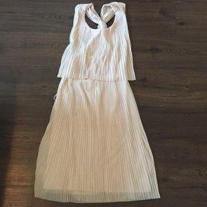 Accordion Detail Cocktail Dress