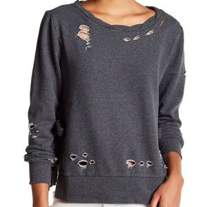 NWT Romeo + Juliet Couture distressed sweatshirt