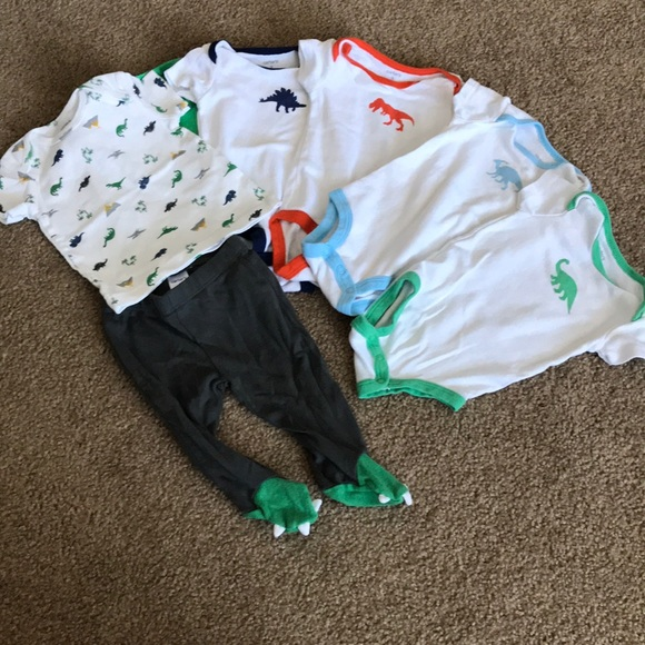 deffa3264 Carter's Matching Sets | Carters Dinosaur 3 Month Onesie Footed Pant ...