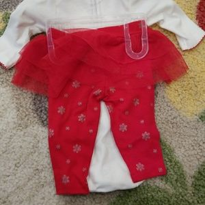 d725f2a2b Carter's One Pieces - Carter's baby girl newborn Christmas onesie tutu