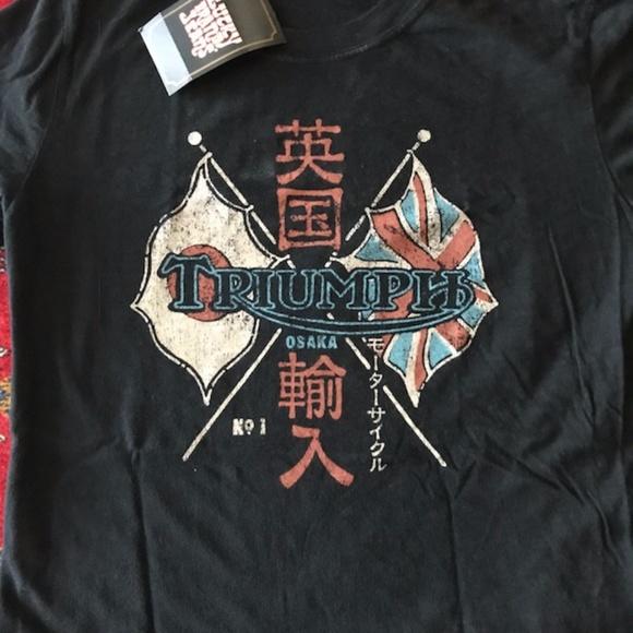 45f14ef74 Lucky Brand Tops | Triumph Motorcycle Osaka Tshirt Top | Poshmark