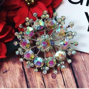 ❄️Snowflake brooch, snowflake pin,Vintage brooch