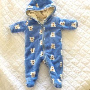 ABSORBA Baby Teddy Bear Winter Bodysuit 0-3 Months