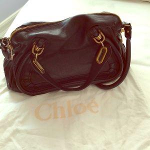Chloe Medium paraty bag in black. GUC