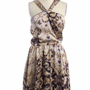 Pim + Larkin Cross Strap Print Dress Sz 6