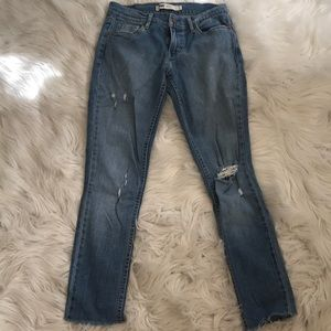 Levi's 524 Destructed Skinny Jeans