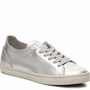"Dolce Vita ""Xavi"" silver metallic sneakers"