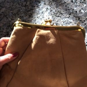 Handbags - Vintage purse handbag tan