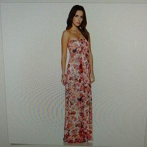Sam Edelman floral strapless maxi dress