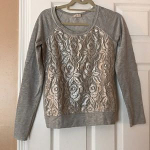 Urban Outfitters Metallic Lace Sweater