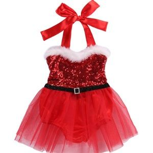 Christmas Santa Baby Outfit, Baby's 1st Christmas