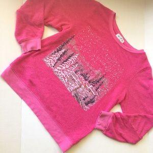Wildfox Snowy Scene Sweatshirt Pink Girls Winter