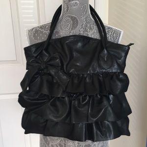 Handbags - Black bow bag