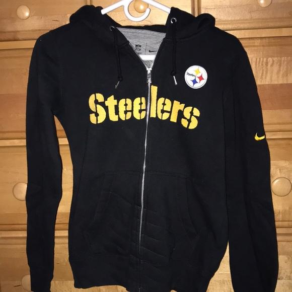 big sale 55f36 92711 Women's Nike NFL Steelers Zip-up Hoodie