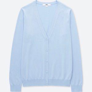 Uniqlo Supima Cardigan - Blue, size L