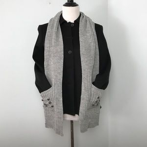 Accessories - Ribbed Knit Pocket Scarf