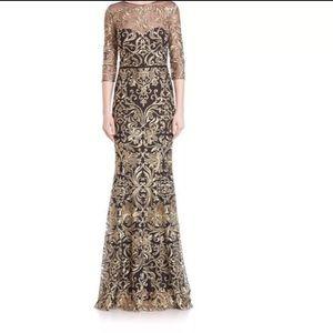 84c5f731da9bb Marchesa Dresses | Notte Lace Gold Black Gown Sz 12 | Poshmark