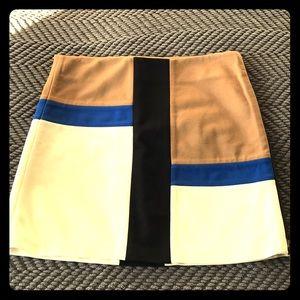DVF color block mini skirt