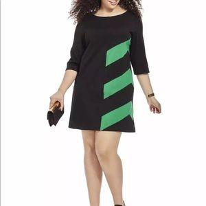 Taylor Dresses Black Green Striped Sheath Dress -6