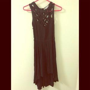 BCBGeneration Black high low dress Size S