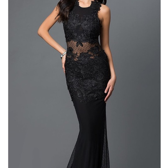 669ede3553 CQ by CQ Dresses | Long Black Prom Dress With Open Back | Poshmark