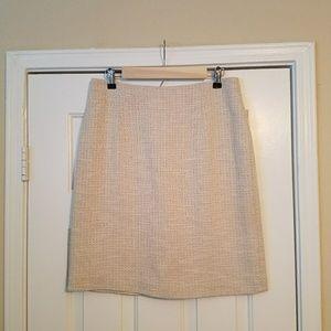 Antonio Melani cream tweed pencil skirt, size 8